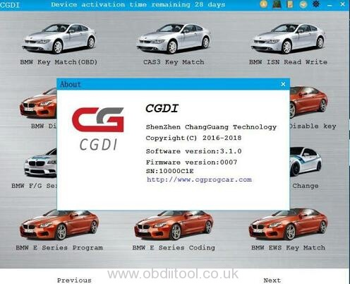 Cgdi Bmw V3.1.0 Software Signature Error 1