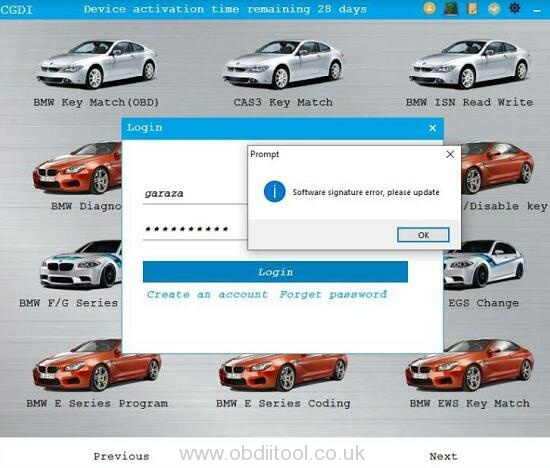 Cgdi Bmw V3.1.0 Software Signature Error 2