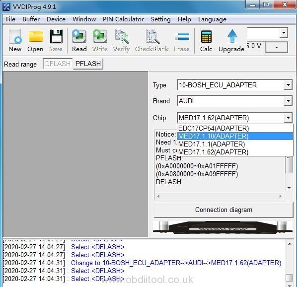 Vvdi Prog V4.9.1 Bosch Ecu Adapter Full List
