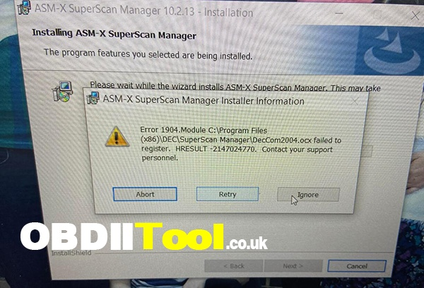 Renault Com Software Install Error Solution 2