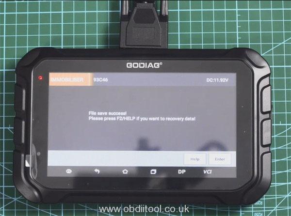 Godiag Gd801 Read Eeprom 93c46 16