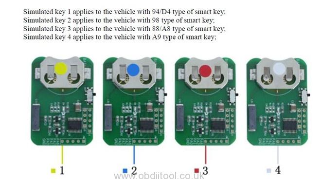 Obdstar Key Sim Toyota Lexus Akl 3