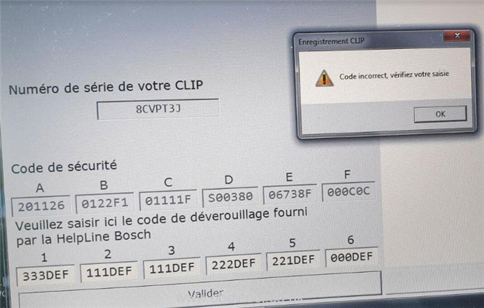 Renault Can Clip V200 Code Incorrect Solution 2