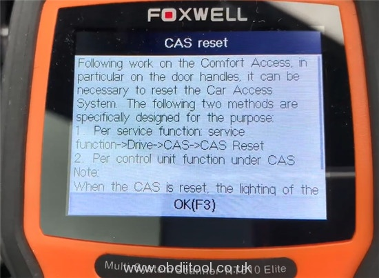 Foxwell Nt510 Elite Bmw E90 Special Function 4