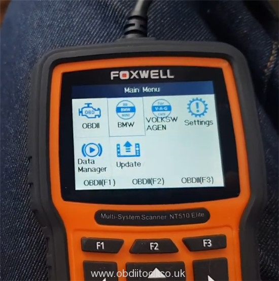 Foxwell Nt530 2008 Bmw 335i Injector Code 2
