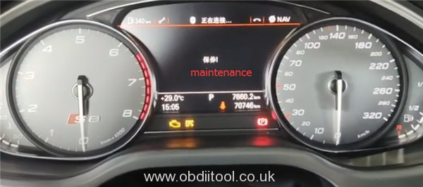 Foxwell Nt530 2013 Audi S8 Oil Reset 1