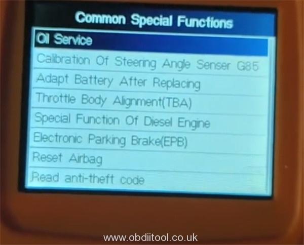 Foxwell Nt530 2013 Audi S8 Oil Reset 8