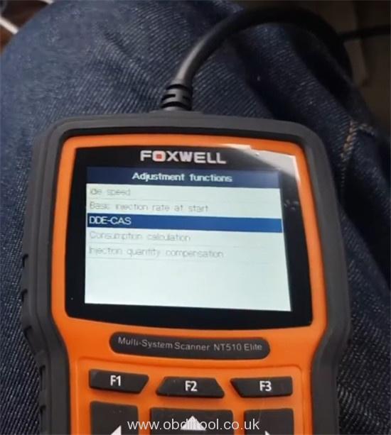 Foxwell Nt530 Fix Bmw 4a63 Fault Dde Ews Tampering 12