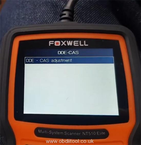 Foxwell Nt530 Fix Bmw 4a63 Fault Dde Ews Tampering 13