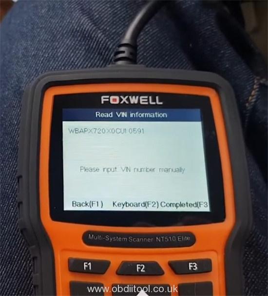 Foxwell Nt530 Fix Bmw 4a63 Fault Dde Ews Tampering 5