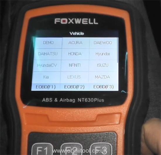 Foxwell Nt530 Nt650 Elite Turn Off Honda Vsa Light 4