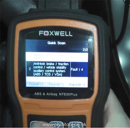 Foxwell Nt530 Nt650 Elite Turn Off Honda Vsa Light 7