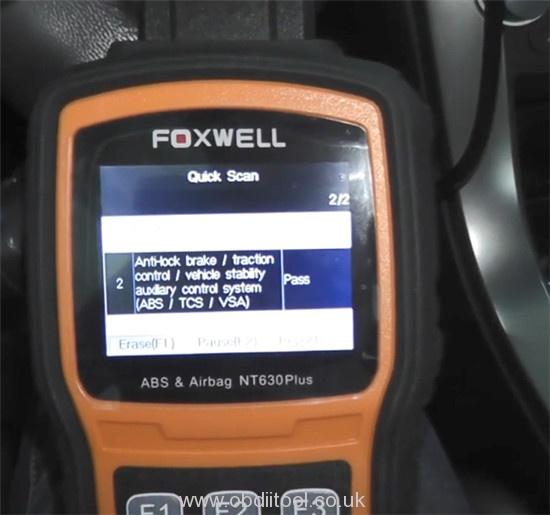 Foxwell Nt530 Nt650 Elite Turn Off Honda Vsa Light 8