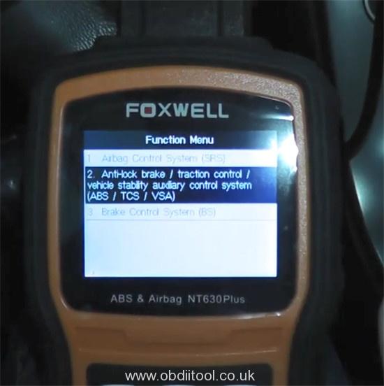 Foxwell Nt530 Nt650 Elite Turn Off Honda Vsa Light 9