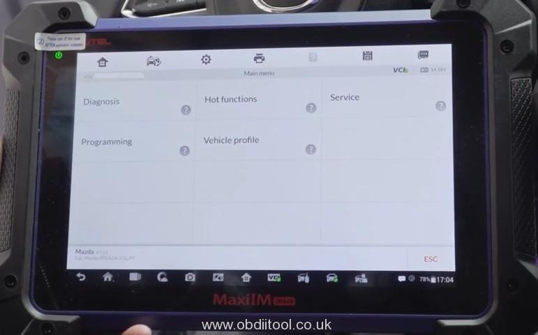 Autel IM608&MaxiFlash JVCI Read Data Stream For Mazda Via OBD 10