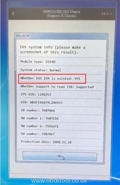 Yanhua Acdp Bmw E 6hp Refresh Error Solution 11