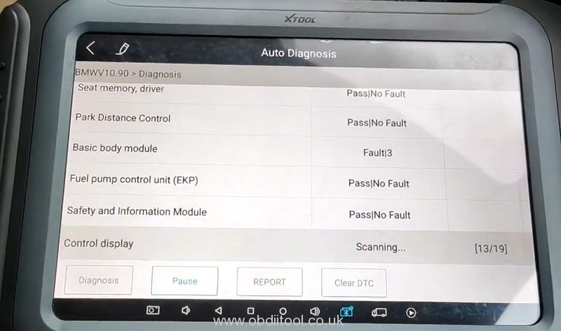 Bmw Diagnosis&service Light Reset By Xtool H6 Pro 1