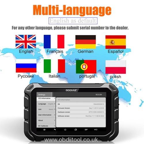 Godiag Gd801 Language Change Software Update 1